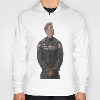 steve rogers Hoodies featuring THE PRICE OF FREEDOM - Steve Rogers by Danielle Aragon