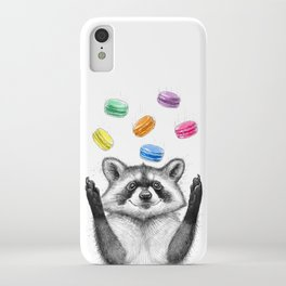 raccoon with cookies iPhone Case
