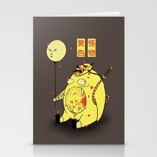 My Yellow Monster Stationery Cards