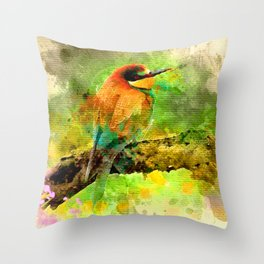 Waterbird Throw Pillow
