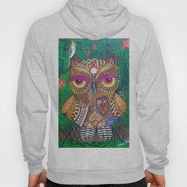 OWL IN THE JUNGLE ZENTANGLE Hoody
