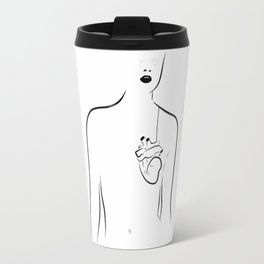 A heart hanging Travel Mug