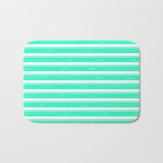 Mint stripes Bath Mat