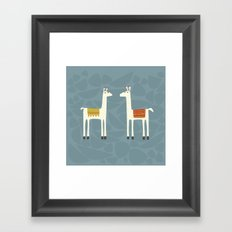 Everyone lloves a llama Framed Art Print
