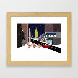 Santa in New York Framed Art Print