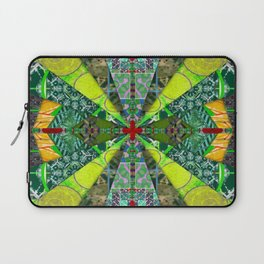 number 238 green on green with red pattern Laptop Sleeve