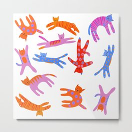 Cartwheel kitties Metal Print