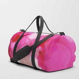 alcohol ink  - fuschia Duffle Bag