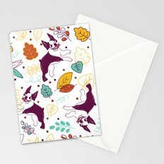 Happy Fall, Dogs! (Boston) Stationery Cards