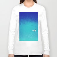 airplane Long Sleeve T-shirts featuring Airplane by Brad Newman