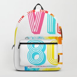 Retro 80s Vibe. Vintage Cassette Tape Party Costume Gift print Backpack