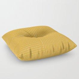 Lines (Mustard Yellow) Floor Pillow