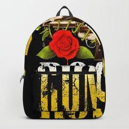 guns n roses flowers logo 2021 desem Backpack