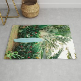 The blue surfboard | Travel photography print | The Dominican Republic Rug