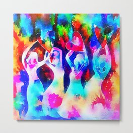 Rainbow Sisterhood Metal Print