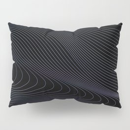 Abstract background with watercolor waves Pillow Sham