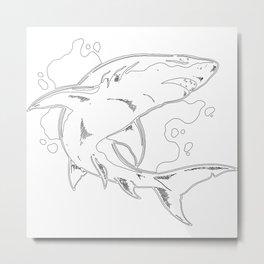 Unique Whale Art Metal Print