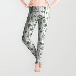 hanging pots pattern Leggings