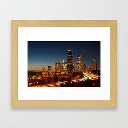 Seattle at Sunset Framed Art Print