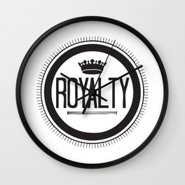 You Are #Royalty Wall Clock