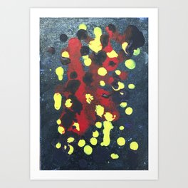 black/red/yellow dots Art Print