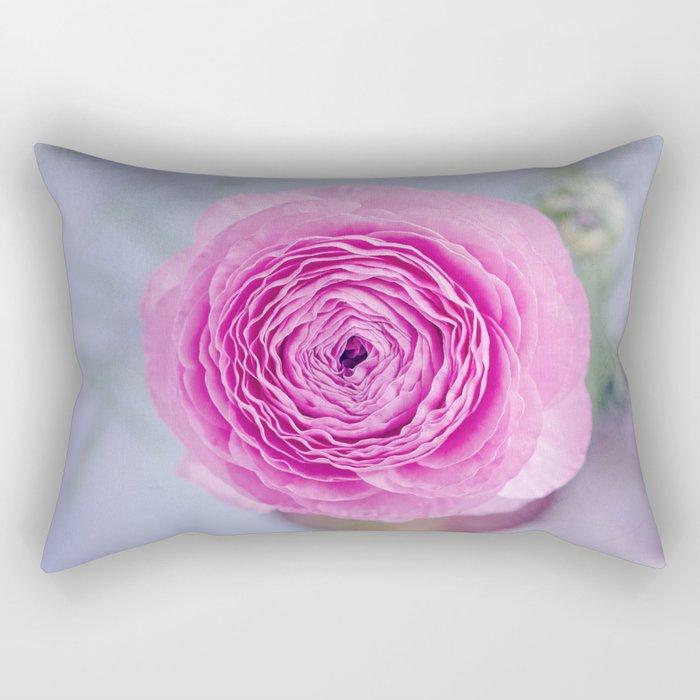 pink ranunculus Rectangular Pillow