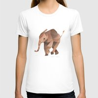 low poly T-shirts featuring Low Poly Elephant by The animals moved to - society6.com/dian