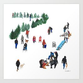 The Fork's River Trail Art Print