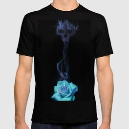 Pale Blue Rose - Smoke skull T-shirt
