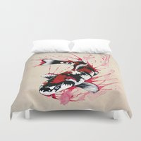 outdoor Duvet Covers featuring Koi by Puddingshades
