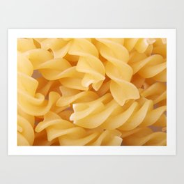 Rotini Pasta Art Print