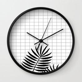 Checks & Leaf #society6 #decor #buyart Wall Clock