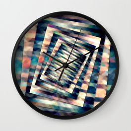 Rotating Grunge Rectangle Wall Clock
