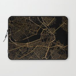 Black and gold Boston map Laptop Sleeve