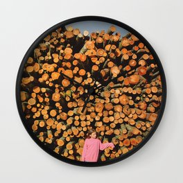 cut forest Wall Clock