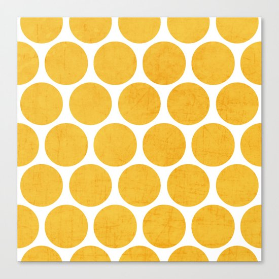 yellow polka dots Canvas Print