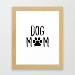 Dog Mom Paw Framed Art Print