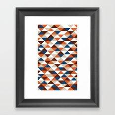 Triangle Pattern #5 Framed Art Print