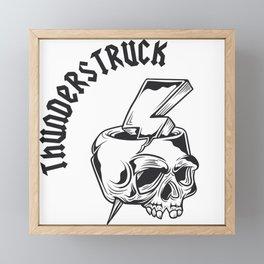 Thunderstruck Skull Framed Mini Art Print
