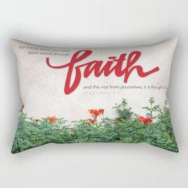 Through faith. Rectangular Pillow