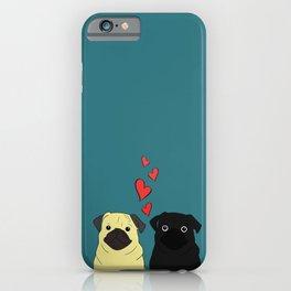 Pugs In Love iPhone Case