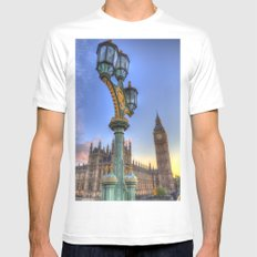 Houses Of Parliament London MEDIUM White Mens Fitted Tee