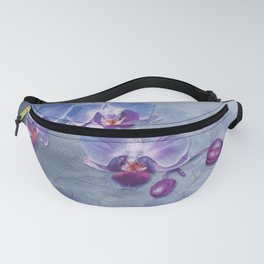 Watercolor Orchid Garden Fanny Pack
