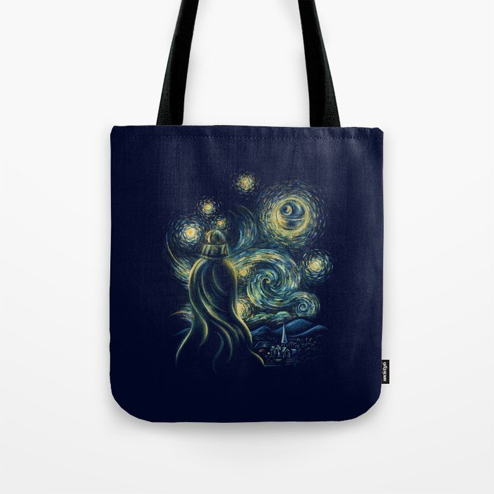 Death Starry Night Tote Bag