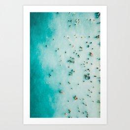 Beach Photography, Aerial Blue Ocean Print, Large Turquoise Ocean Poster, Coastal Wall Art, Beach Art Print