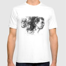 Dave  MEDIUM Mens Fitted Tee White