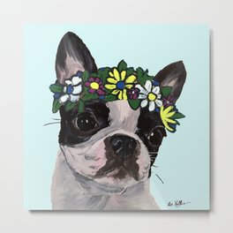 Boston Terrier Art, Cute Boston Terrier Metal Print