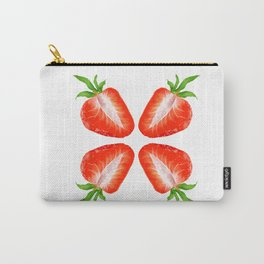 Strawberry pattern Carry-All Pouch