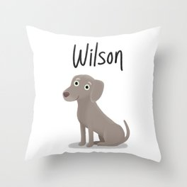 "Custom Dog Artwork, ""Wilson"" Throw Pillow"