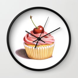 The Perfect Pink Cupcake Wall Clock
